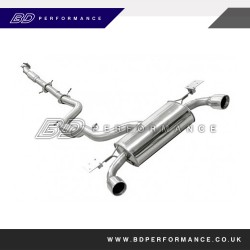Ford Focus RS Mongoose Downpipe Back System (De-CAT)