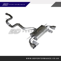 Ford Focus RS Mongoose Downpipe Back System (Sports CAT - 200)