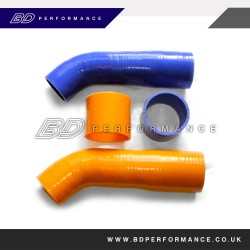 Focus Mk2 ST 225 - Silicon 2 pce boost hoses for Focus ST Turbo in Orange, Blue or Red