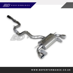 Ford Focus ST Mongoose Downpipe Back System (Sports CAT)