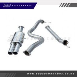 "Cobra Fiesta ST180 Cat Back Exhaust / 3"" Bore / Non-Resonated - Twin"