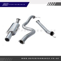 "Cobra Fiesta ST180 Cat Back Exhaust / 3"" Bore / Non-Resonated - Single"