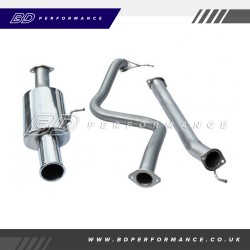"Cobra Fiesta ST180 Cat Back Exhaust / 2.5"" Bore / Non-Resonated - Single"