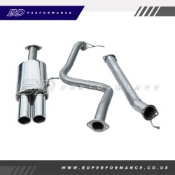 "Cobra Fiesta ST180 Cat Back Exhaust / 2.5"" Bore / Non-Resonated - Twin"