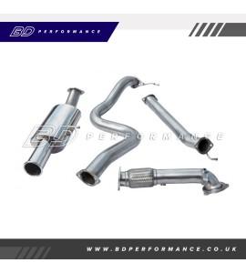 """Cobra Fiesta ST180 Turbo Back Exhaust / 3"""" Bore (with De-Cat / Non-Resonated) Single"""