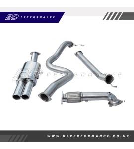 """Cobra Fiesta ST180 Turbo Back Exhaust / 3"""" Bore (with De-Cat / Non-Resonated) - Twin"""