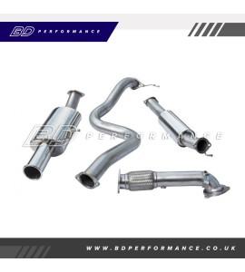 "Cobra Fiesta ST180 Turbo Back Exhaust / 3"" Bore (with De-Cat & Resonator) Single"