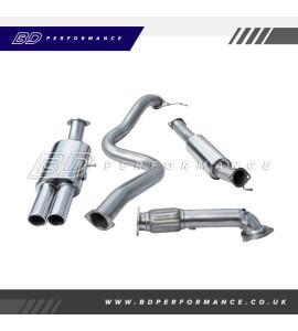 "Cobra Fiesta ST180 Turbo Back Exhaust / 3"" Bore (with De-Cat & Resonator) - Twin"