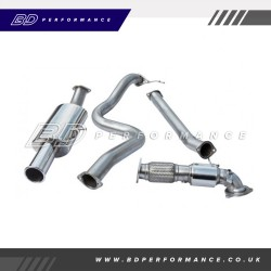"""Cobra Fiesta ST180 Turbo Back Exhaust / 3"""" Bore (with Sports Catalyst / Non-Resonated) Single"""