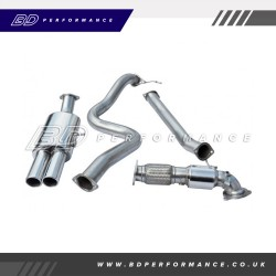 """Cobra Fiesta ST180 Turbo Back Exhaust / 3"""" Bore (with Sports Catalyst / Non-Resonated) - Twin"""