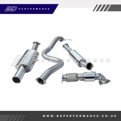 """Cobra Fiesta ST180 Turbo Back Exhaust / 3"""" Bore (with Sports Catalyst & Resonater) Single"""