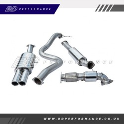"""Cobra Fiesta ST180 Turbo Back Exhaust / 3"""" Bore (with Sports Catalyst & Resonater) - Twin"""