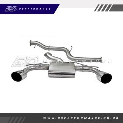 Focus MK2 RS - Cobra Cat Back Exhaust (Non-Resonated)
