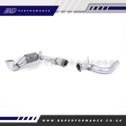 MILLTEK SPORT FIESTA MK8 1.0 CAST DOWNPIPE WITH RACE CAT – FITMENT TO MILLTEK CAT-BACK SYSTEM ONLY