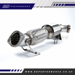 FOCUS ST250 MK3 MILLTEK LARGE BORE DOWNPIPE WITH HI-FLOW SPORTS CATALYST