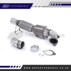 FOCUS RS MK3 MILLTEK LARGE BORE DOWNPIPE WITH HI-FLOW SPORTS CATALYST (200 CELL)